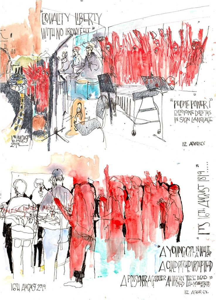 Reportage Peterloo 2019 From The  Crowd Liz Ackerley
