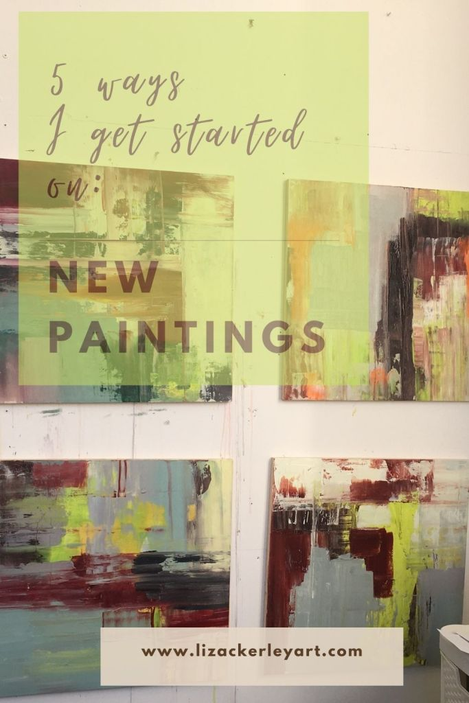 How I get started on new paintings   mixed media landscape , Liz Ackerley Art