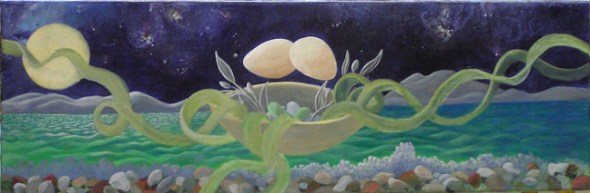 Aegean moon