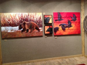 Paintings by Lyn St. Clair in Jackson Wyoming.