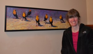 Lyn St Clair with Yellow Headed Blackbirds