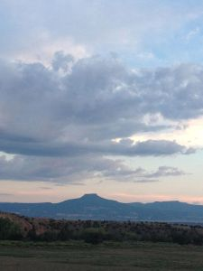 A quiet evening at the Ghost Ranch, watching the clouds over Pedernal.