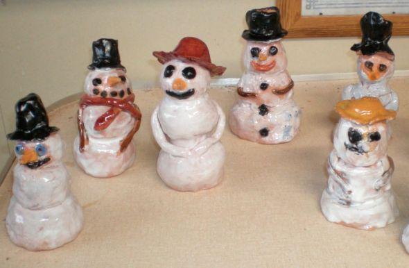 Clay Frosties! A snowman that won't melt!
