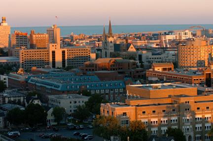 The Marquette campus. Photo credit: Marquette University.