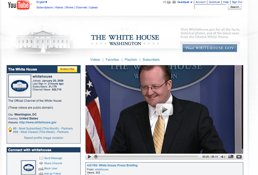The White House YouTube Channel