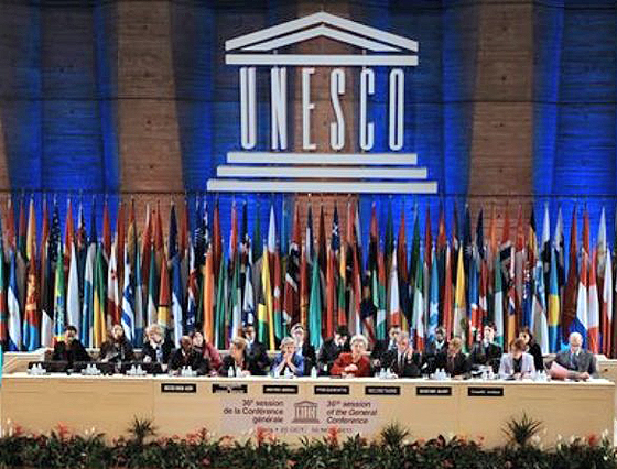 Die Generalkonferenz der Unesco nimmt Palästina als Mitglied auf, Paris, 31. Oktober 2011