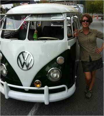 Liz with Vintage VW Bus NEW
