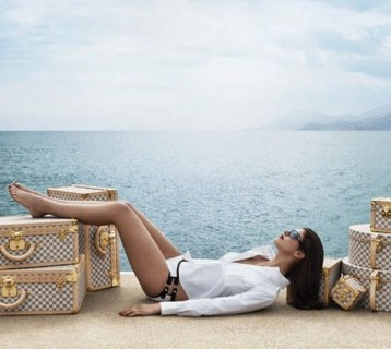 Lounging with LV Luggage