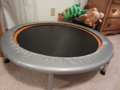 Mini-trampoline (bought used for $20 from daycare)