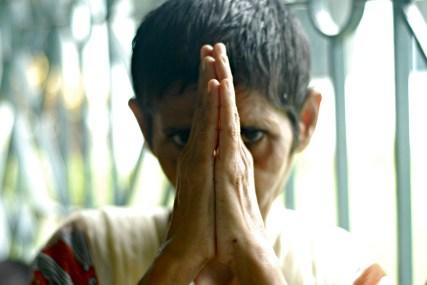 A resident of Shanti Dan.