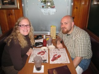 Our second anniversary (Warren's Lobsert House in Kittery, Maine; 2008)