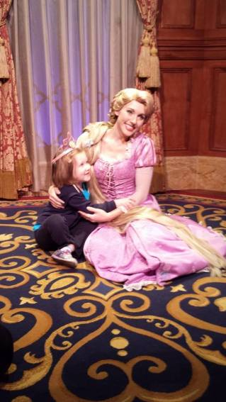 Ruthie and her FAVORITE princess, Rapunzel