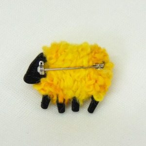 rear|view|lizzyc|sheep|yellow|brooch|buttercup