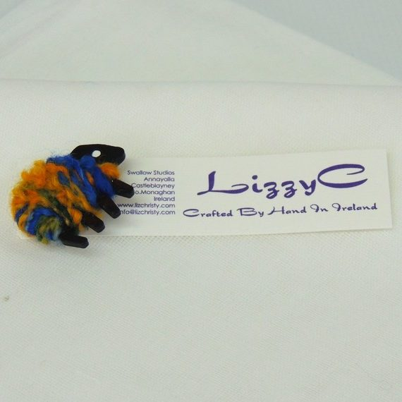 LizzyC|Sheep|Brooch|hazel|displaycard