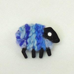 Lizzyc|sheep|blue|brooch|iris