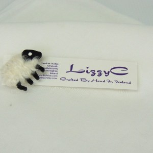 LizzyC Sheep White Brooch