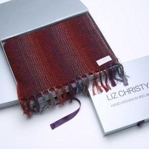 mens-handwoven-scarf-ploughman-portnoo-red