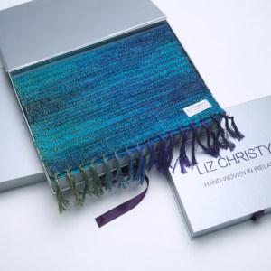 boxirish-wool-scarf-waterlillies-cerulean-blueed-