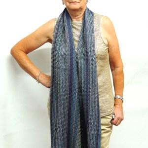 liz-christy-scarf-painter-of-light-kate-beagan-saphire-margaret-around the neck