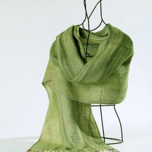 liz-christy-kate-beagan-green-cotton-scarf-draped