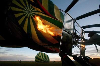 Balloon ride over the Serengeti National Park, october 15, 2011.