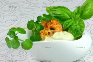 Avocado's Cream And King Prawns© Liz Collet