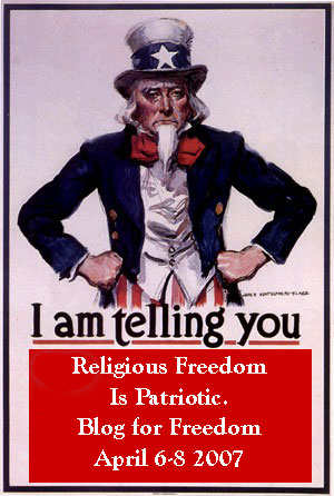 Uncle Sam, blog against theocracy
