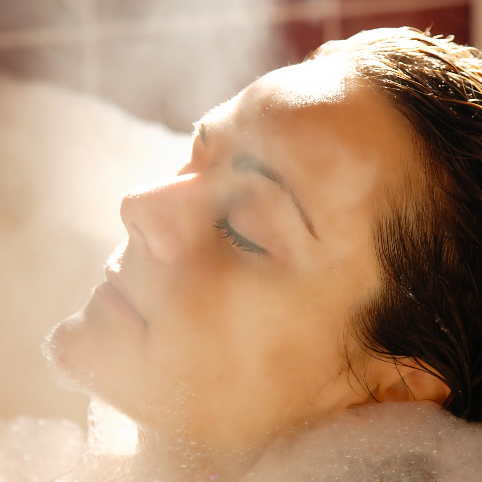 relaxing essentail oil bath