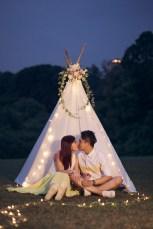 Picnic prewedding photo - knotties frame x liz florals 4