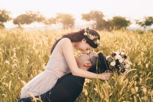 Lalang Field Photoshoot, Burgundy Bouquet, Bridal Bouquet SIngapore