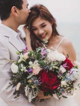 Bridal Bouquet, Beach Wedding, Singapore Wedding