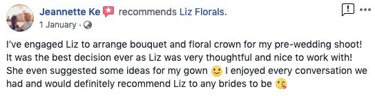 Reviews - Liz Florals