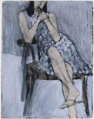 Richard Diebenkorn, Seated Woman No. 44, 1966 Watercolor, charcoal, gouache and crayon Courtesy Fine Arts Study Collection, University at Albany, State University of New York