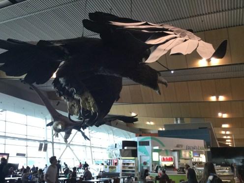 Huge-ass airport bird sculpture