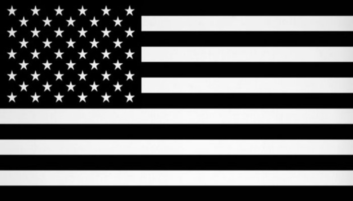 Black and White American Flag2