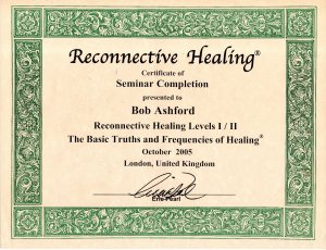 RECONNECTION HEALING CERTIFICATE