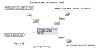 Nottingham Trowell Map : LizianEvents : Lizian Events