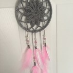 Hand crochet dream catcher