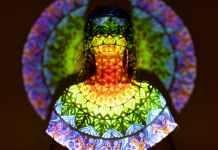 light woman art relaxation
