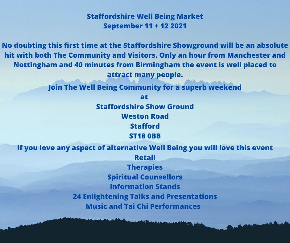 Staffordshire Well Being Market: LizianEvents Ltd