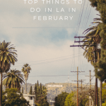 Top Things to Do in LA in February, a blog post by Liz in Los Angeles, Los Angeles Lifestyle Blogger: an image of graphic