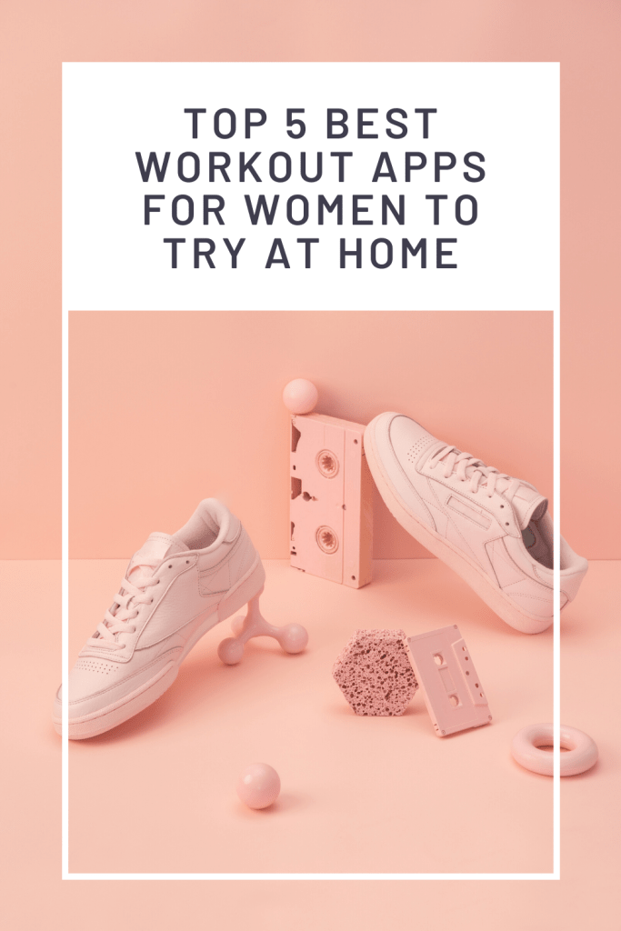 Top 5 Best Workout Apps for Women to Try at Home, a blog post by Liz in Los Angeles, Los Angeles Lifestyle Blogger: an image of sneakers