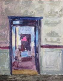 Doorway, Château des Vigiers, oil on board 18 x 24