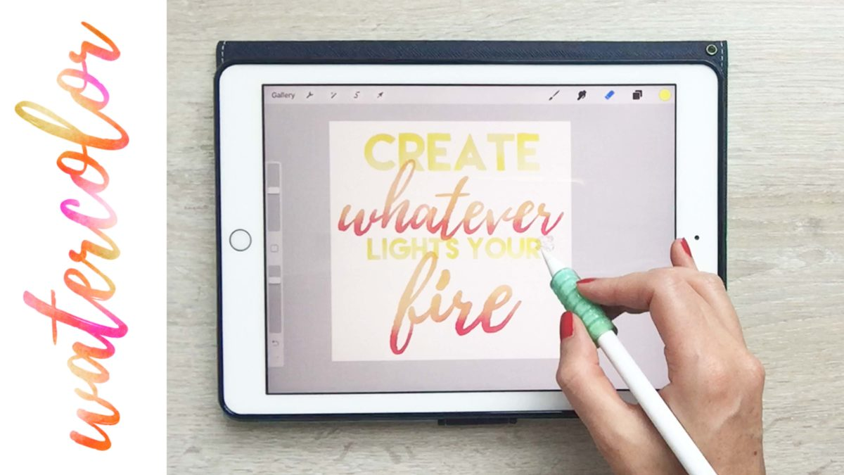 Watercolor Hand Lettering on Your iPad in Procreate + Free Brushes and Paper Texture