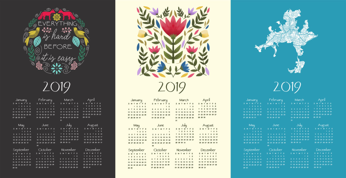 Free Calendar Template for 2019 | Design Your Own Calendar!