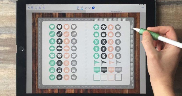 Free Gray Digital Planner + 64 Stickers