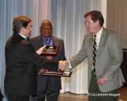 Ed Lamont DTM receiving the Edward R Carey award
