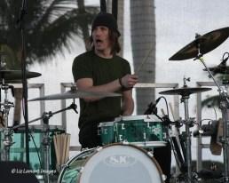 Drummer warming up