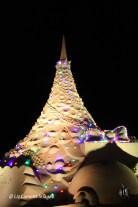 Sand Christmas Tree by night