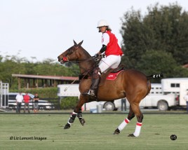 Women In Polo, Gillian Johnston plays for team Coca Cola